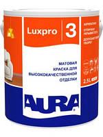 Краска для высококачественной отделки потолков и стен Luxpro 3 Aura Eskaro 1 л