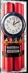Часы на холсте CH-75 (75x29 см)