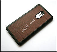 Чехол бампер для Xiaomi Note 4X, серия Wooden коричневый