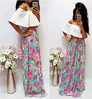 Модная юбка на лето в пол