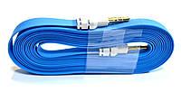 Аудио-кабель AUX 3.5 jack/M/M (лапша толстая) 3 метра, удлинитель aux jack 3.5 mm
