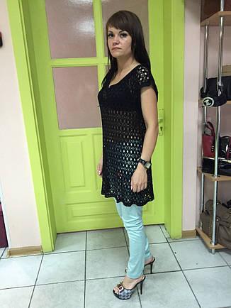 Туника-сетка женская черная без рукавов  Cache-Cache , фото 2