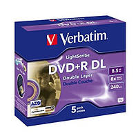 Verbatim DVD+R Dual Layer 8.5Gb 8x LightScribe