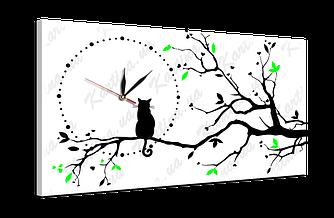 """Часы на холсте ch42 """"Кот"""" (53x30 см)"""