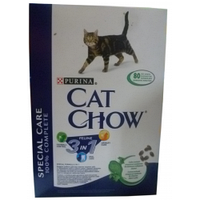 Purina Cat Chow 3in 1  корм для взрослых кошек с формулой тройного действия  0,4 кг