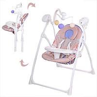 Детская электро качель качалка для малышей (Арт. M 1540-03)