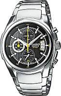 Мужские наручные часы Casio EF-512D-1AVEF, Оригинал. Кварцевые стальные часы.