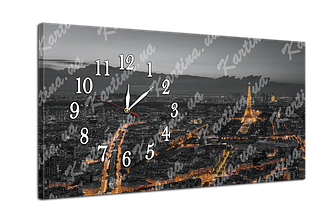 Часы на холсте 6 Париж (53x30 см)