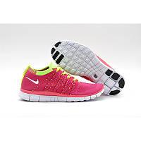 Кроссовки Nike Free Run TR Fit Flyknit Pink Yellow, фото 1