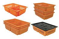 Ящик для перевозки суточных цыплят, 2 отделения