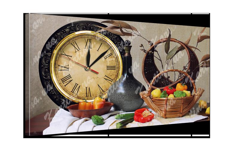 Часы на холсте 4 Натюрморт (53x30 см)