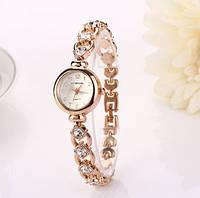 Наручные часы женские с кристаллами код 155