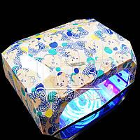 УФ лампа CCFL+LED DIMOND на 36 Вт с сенсором и таймером 10,30,60 сек. и магнитным дном (bears)