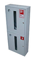 Шкаф пожарный ШПК-320 ВО встроенный без задней стенки под 1 рукав и 2 огнетушителя 1300х600х230 мм