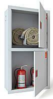 Шкаф пожарный ШПК-322 ВО встроенный с задней стенкой под 2 рукава и 2 огнетушителя 1600х600х230 мм