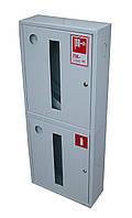 Шкаф пожарный ШПК-322 НО навесной без задней стенки под 2 рукава и 2 огнетушителя 1500х600х230 мм
