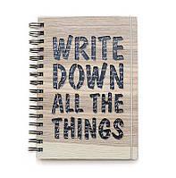 """Блокнот скетчбук """"Write down"""" с кремовым внутренним блоком"""