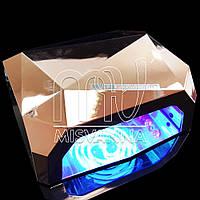 УФ лампа CCFL+LED DIMOND на 36 Вт с сенсором и таймером 10,30,60 сек. и магнитным дном (gold rose)