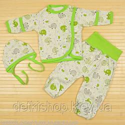 Комплект для новорожденного «Слоники» (зелёный)