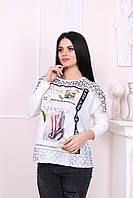 Белая женская кофточка 2017