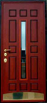 Входные двери с стеклопакетом и элементами ковки, фото 2