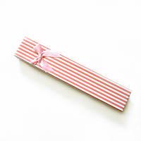 """Подарочный футляр """"Светло-розовый"""" в белую полоску"""