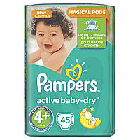 Подгузники Pampers Active Baby-Dry Размер 4+ (Maxi+) 9-16 кг, 45шт