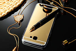 Чехол Samsung J5 Prime / G570F силикон TPU зеркальный золотой