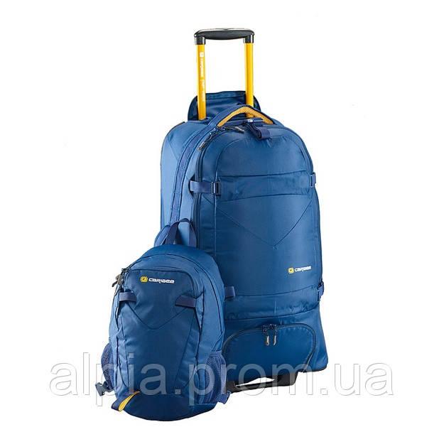 Сумка-рюкзак на колесах Caribee Fast Track 85 Navy (комплект)