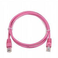 Патч-корд 0.5 м, FTP, Pink, Cablexpert, литой, RJ45, кат.5е / PP6-0.5M/RO