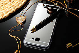 Чехол Samsung J5 Prime / G570F силикон TPU зеркальный светло-серый