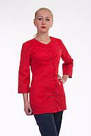 Женский костюм с красным верхом