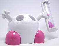Подставка для зубных щеток с таймером 3 минуты, розовый