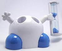Подставка для зубных щеток с таймером 3 минуты, синий