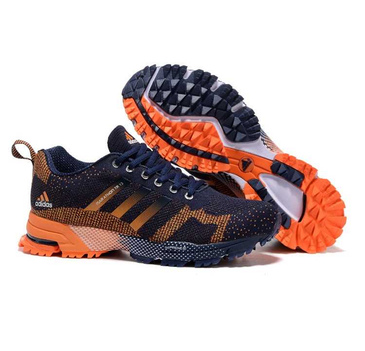 dd98a871 Кроссовки Adidas Marathon TR 13 Flykmit Dark Blue Orange купить в ...