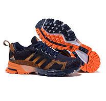 Кроссовки Adidas Marathon TR 13 Flykmit Dark Blue Orange