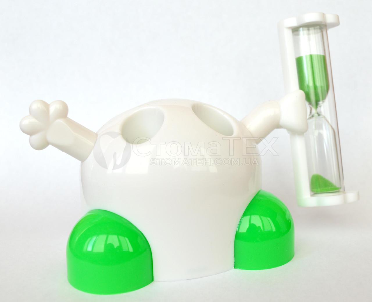Подставка для зубных щеток с таймером 3 минуты, зеленый NaviStom