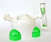 Подставка для зубных щеток с таймером 3 минуты, зеленый