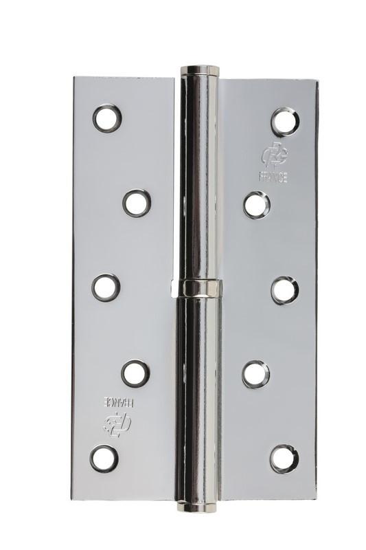 Петля стальная Gavroche gr 125*75*2.5мм B1 L cp (хром)