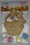 Великдень Кошик з яйцями  10см  Н-0055