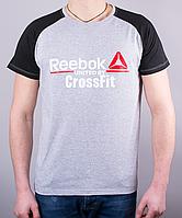 Крутая мужская футболка-реглан Reebok Crossfit