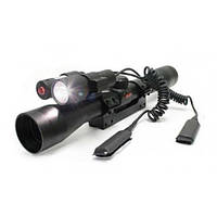 Оптический прицел Gamo 3-9х40 WR с фонариком + крепление Vampir Original (Испания), для сверх точной наводки