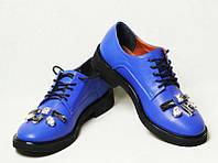 Туфли женские кожаные оксфорды разные цвета Uk0425