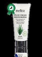 Органический Увлажняющий крем для рук Melica Organic с маслом зародышей пшеницы и экстрактом Алоэ, 100 мл