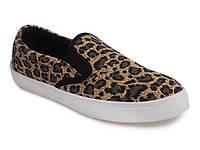 Леопардовые женские слипоны из текстиля