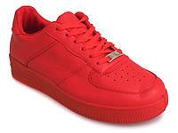 Женские кроссовки красного цвета из эко кожи размеры 39,40