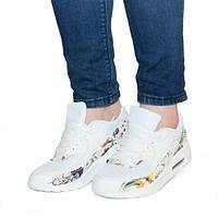 Белые женские кроссовки весна,осень
