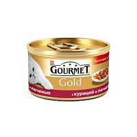 Purina Gourmet Gold двойное удовольствие с курицей и печенью, 85 г