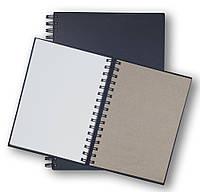 Скетчбук для рисунка на пружине, белая+крафт+черная бумага на пружине, A5, 60, ArtBook mix, Alizarin