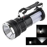 Многофункциональный фонарь аккумуляторный с солнечной панелью YJ-2881T, Хит продаж